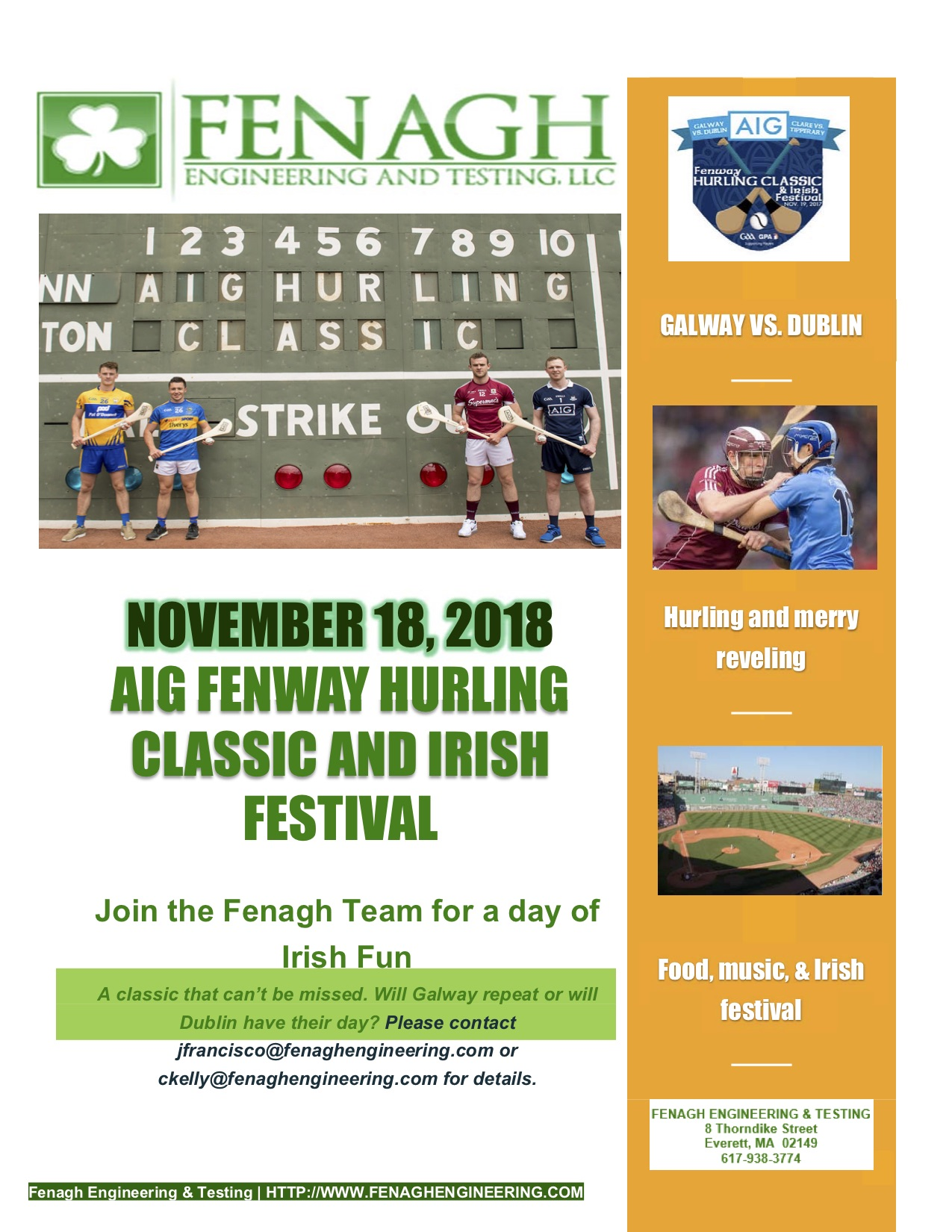 Hurling Event Announcement 2018